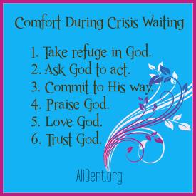 Comfort During Crisis Waiting