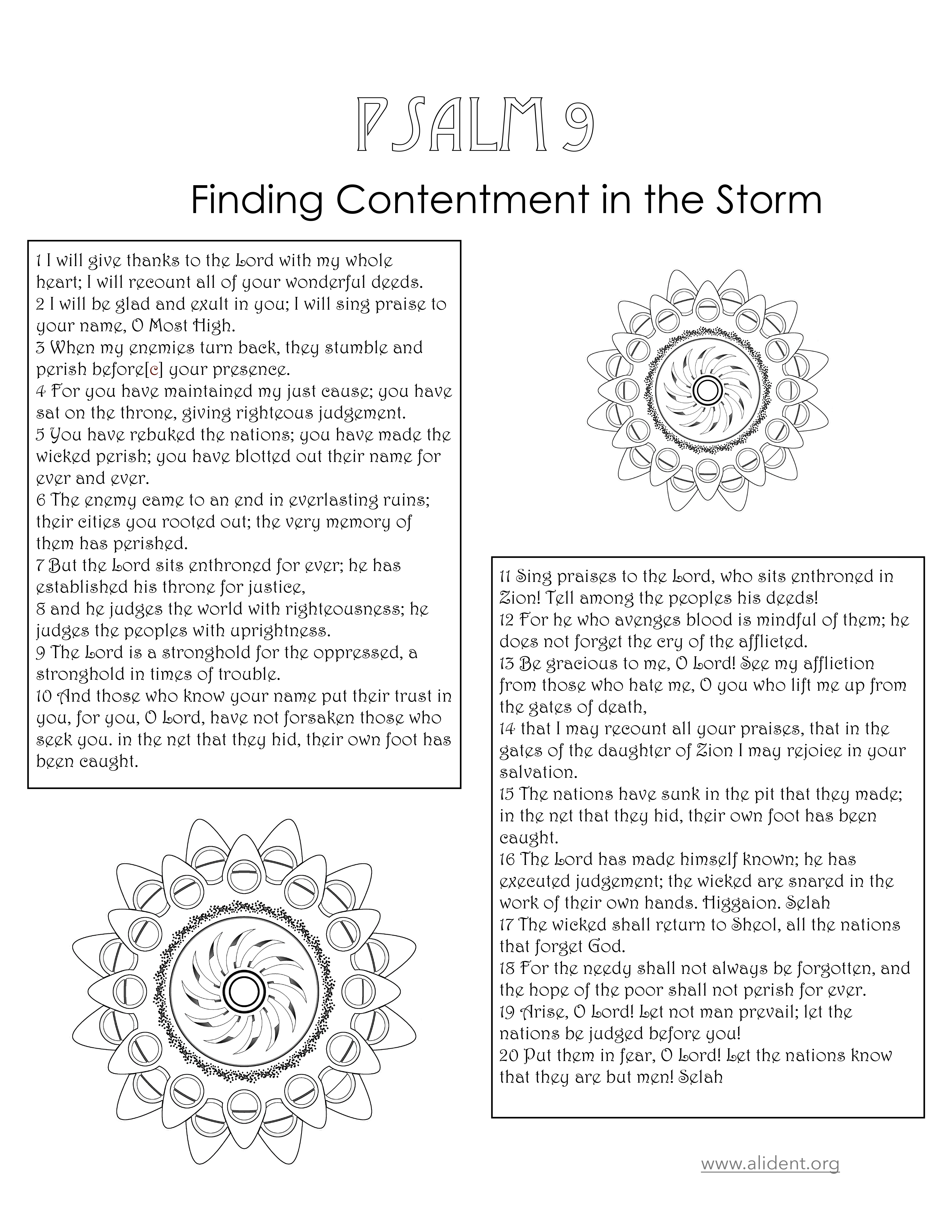 Psalm 9, Finding Contentment in the Storm