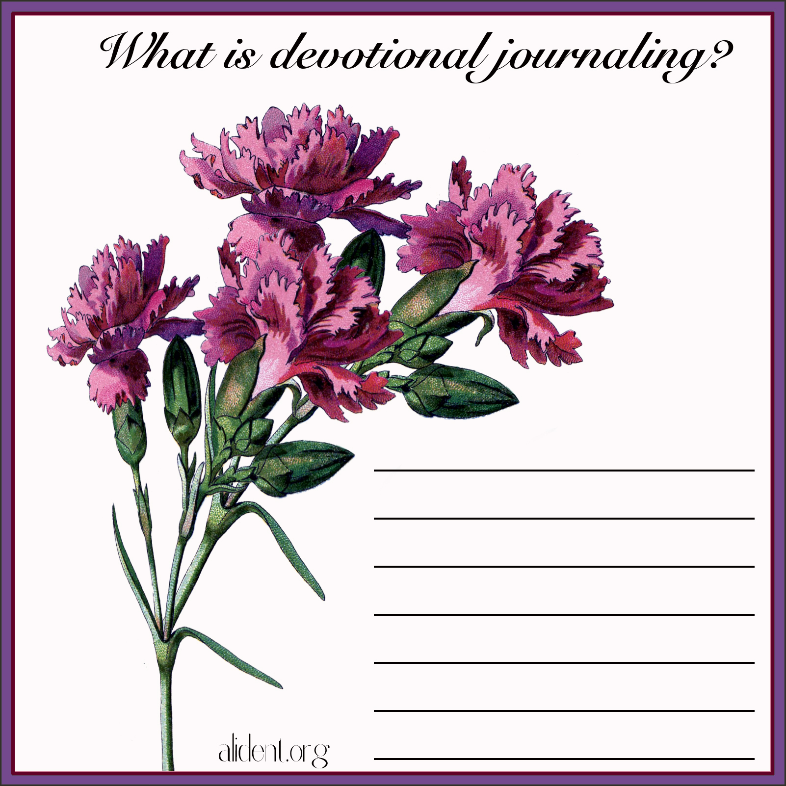 What is devotional journaling2